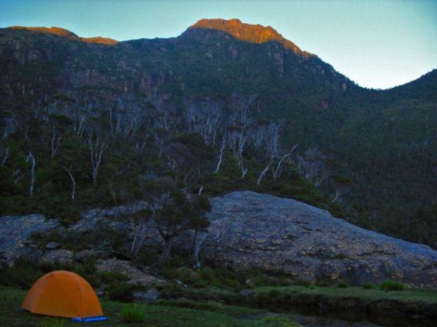 Camping below Bobs