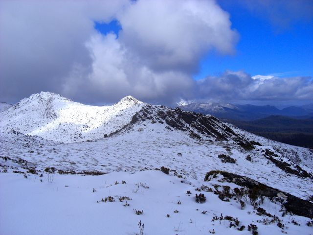 Ridge line in snow
