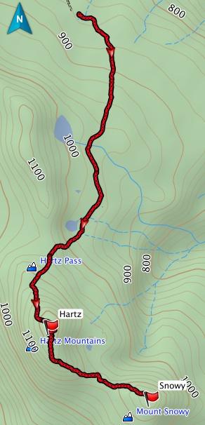 Hartz, Snowy GPS Track