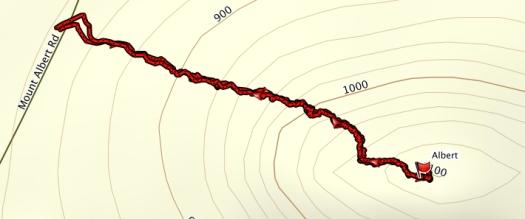 Mt Albert GPS route