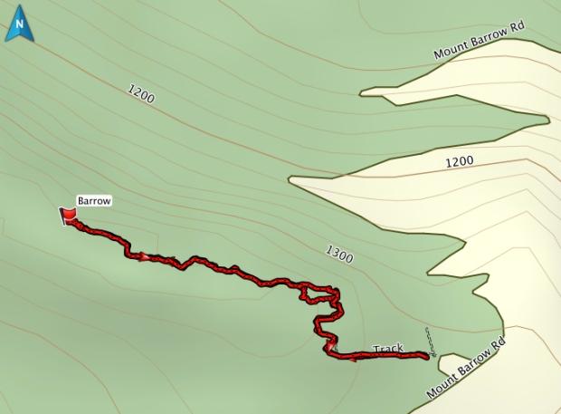 Mt Barrow GPS track