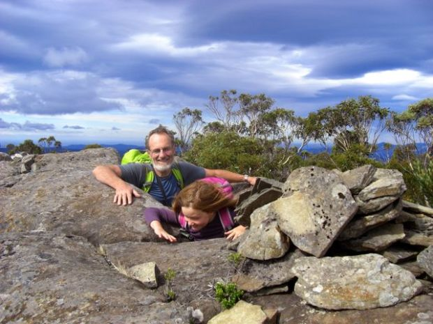 On the summit of Mt Albert