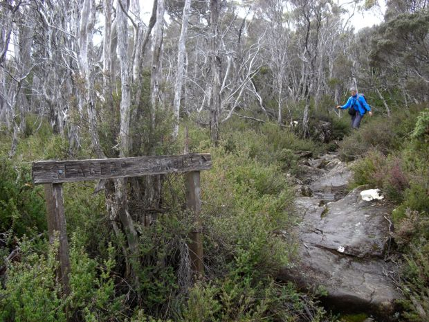 Seagers Lookout turn off.. and track condition