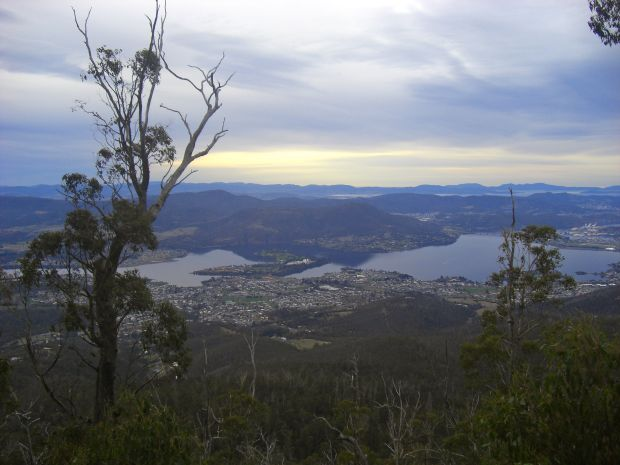 View over Claremont part way up
