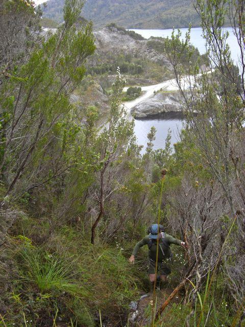 Heading up the steep bit, nearish the top of it