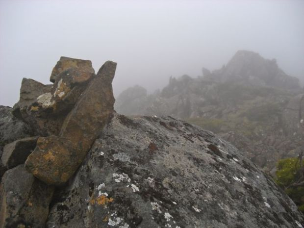 Summit cairn, and not much else!