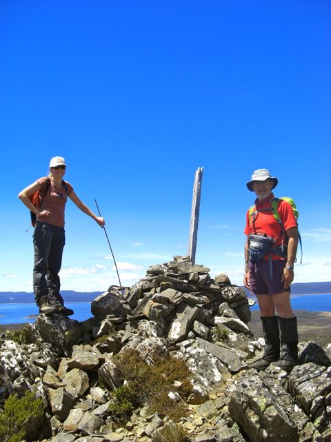 On the Split Rock summit with the cairn