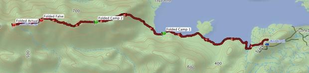 Folded Range GPS track