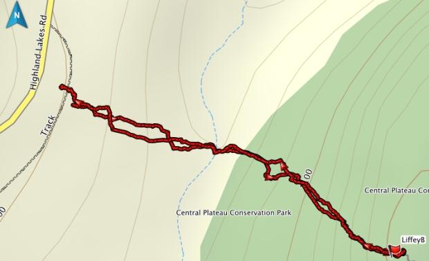 Liffey Bluff GPS track