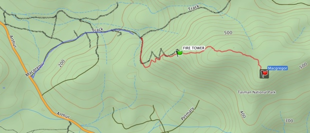 GPS route to track and up Macgregor