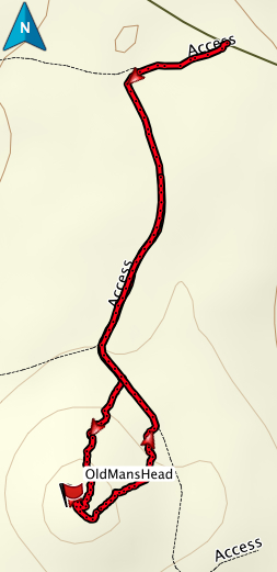 Old Man's Head gps route