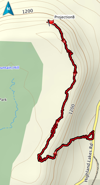Projection Bluff GPS track