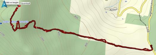Quamby Bluff GPS route