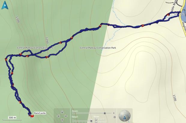 Rats Castle GPS track