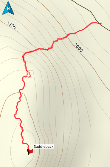 Saddleback GPS Route