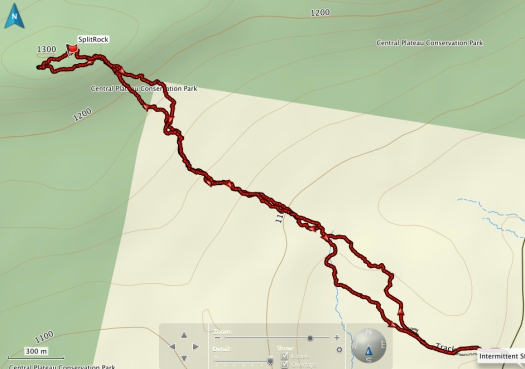 Split Rock GPS track