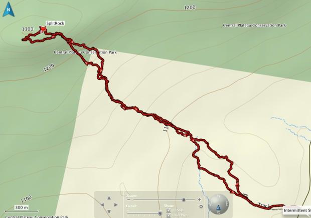 Split Rock GPS track