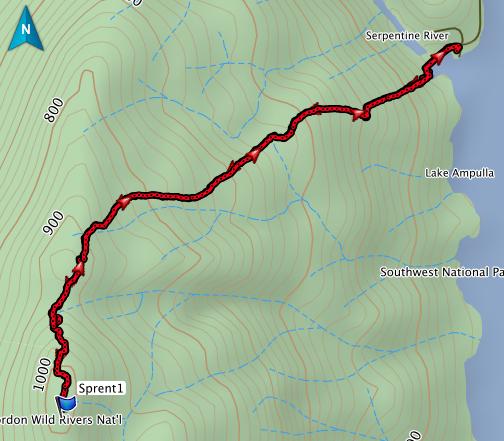 Mount Sprent GPS route