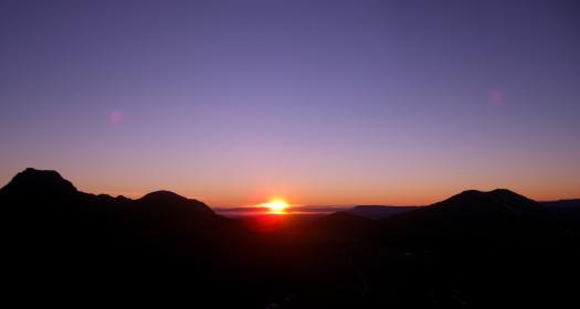 Monday morning, sun rises
