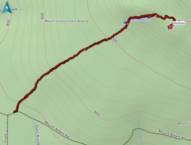 Mt Victoria GPS route