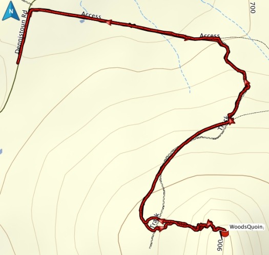 Woods Quoin gps track