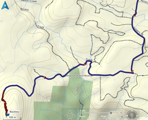 Blackboy GPS route