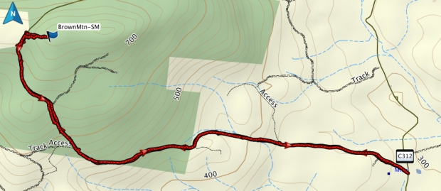 Brown Mountain GPS route