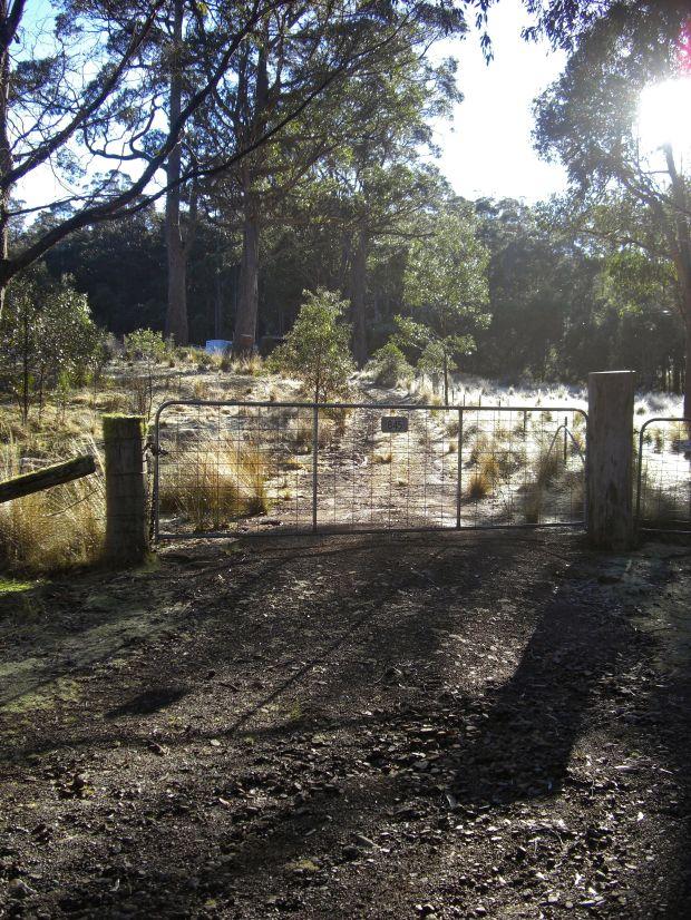 Locked gate at start of walk