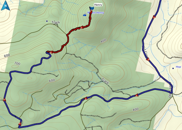 Mount Henry GPS route