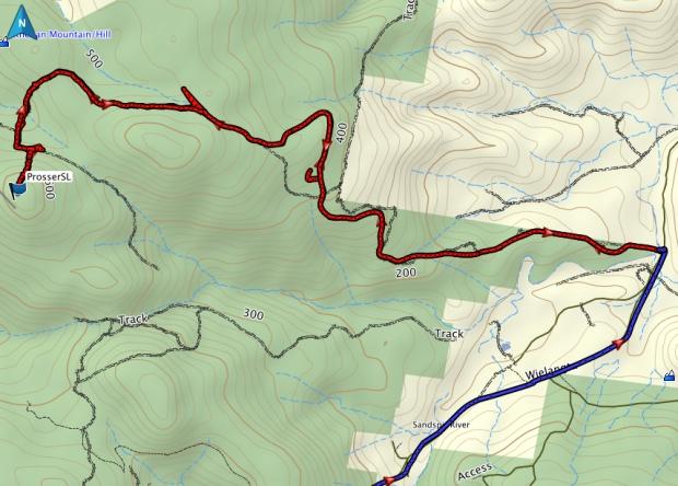 Prosser SL GPS route