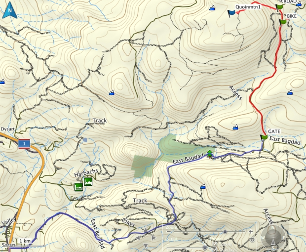 Quoin Mountain GPS route