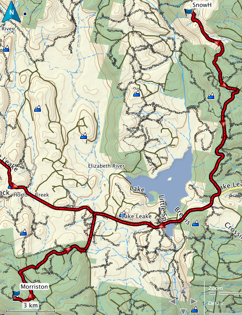 Snow Hill and Mt Morriston GPS route