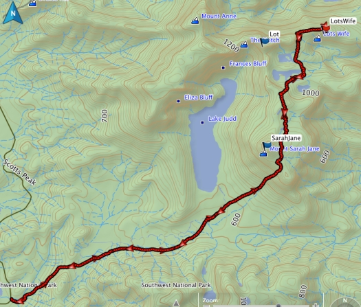 Lots Wife GPS route