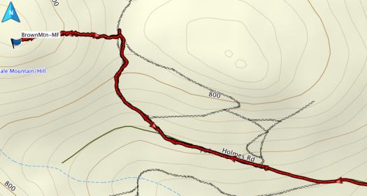 Brown Mountain GPS route
