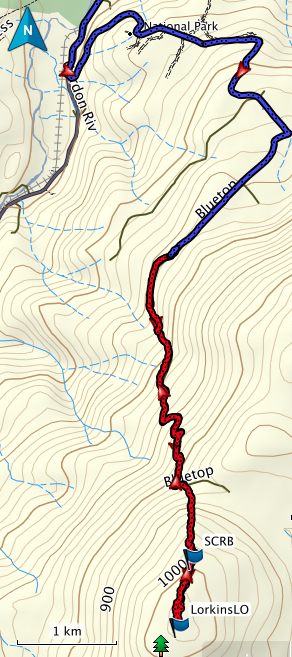Lorkins LO GPS route