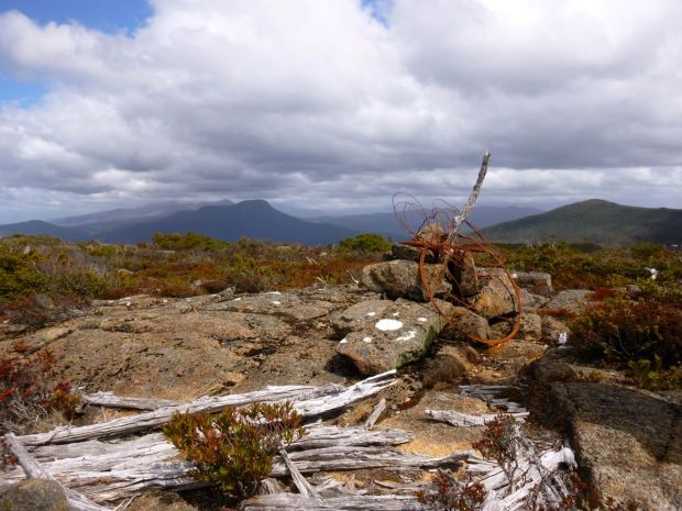 Not the high point, but a cairn with character and a few mountains too :)