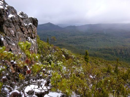 View on the way down of a 'nothing' peak.. all the others high and mighty with their heads in the cloud