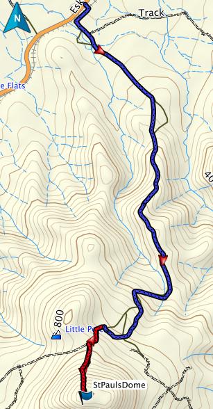 St Pauls Dome GPS track