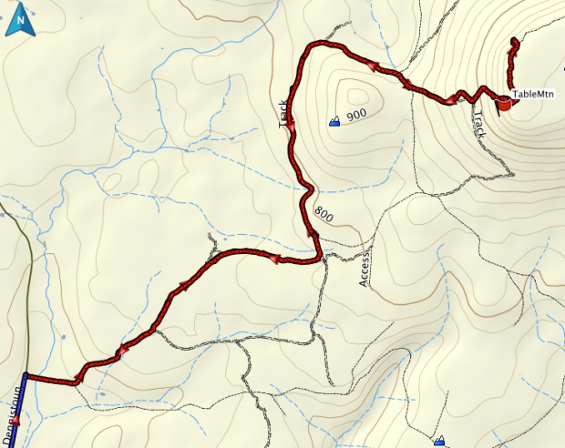 Table Mountain GPS track