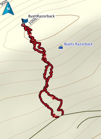 Byatts Razorback GPS route