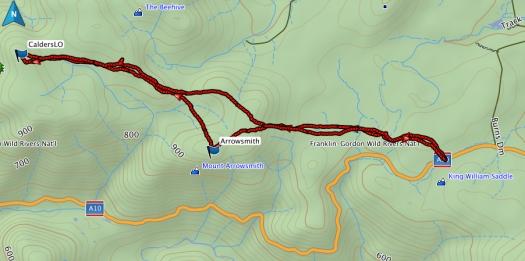 Calders LO and Mt Arrowsmith GPS route