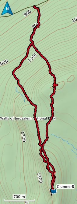Clumner Bluff GPS route