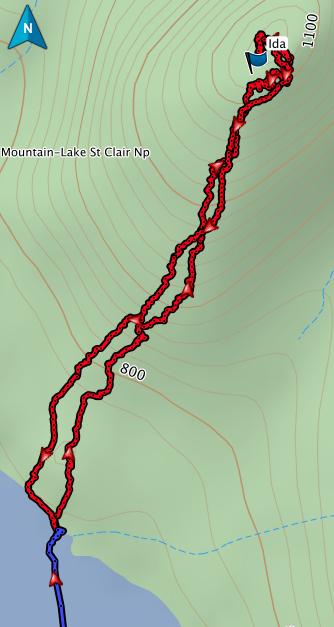 Mt Ida GPS route
