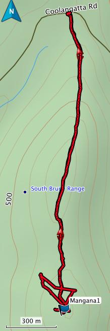 Mt Mangana GPS route