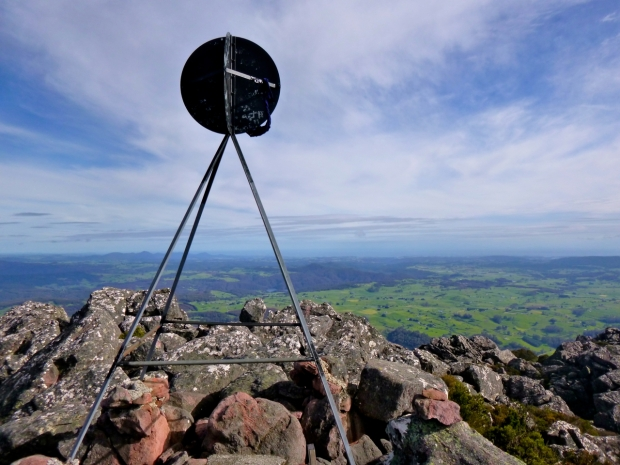 On the summit, looking towards Bass Strait
