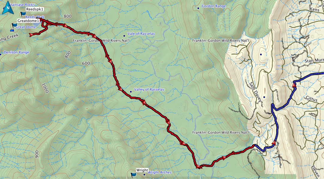 Lake Rhona GPS route