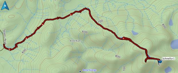 Schnells Ridge GPS route