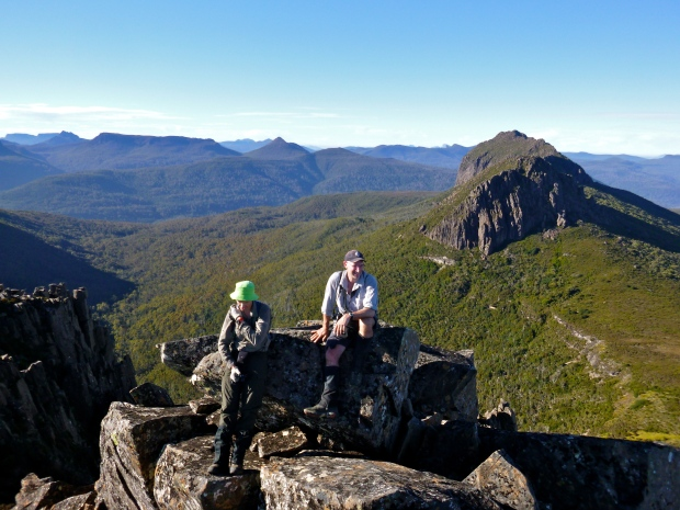 Sitting on Achilles, I'm on the summit, looking towards Perrins Bluff