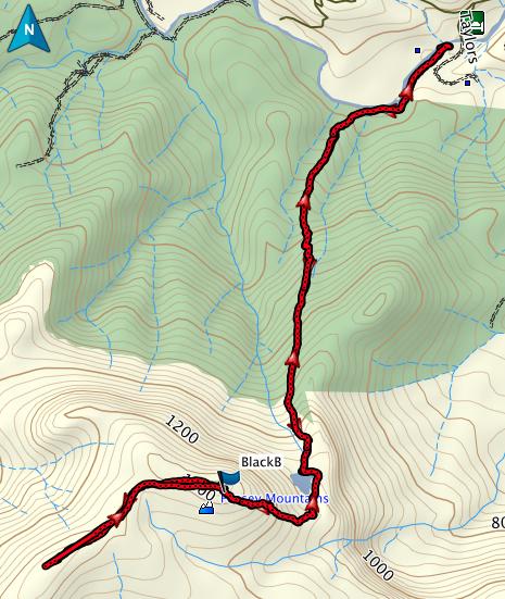 Black Bluff GPS route
