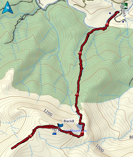 Black Bluff GPS route